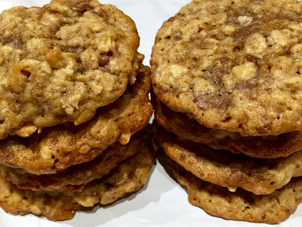 Oatmeal Cookies (with optional Pecans, Chocolate Chips, White Chocolate Chips, Toffee Chips, or Dried Cranberries)