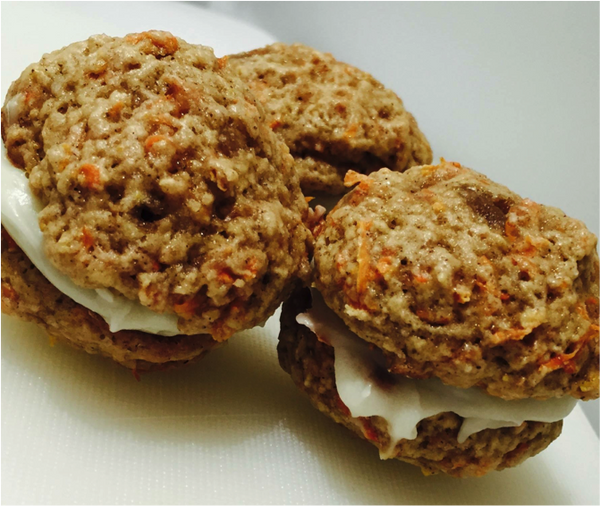 Carrot Cake Cookies Sandwiched with Cream Cheese Filling