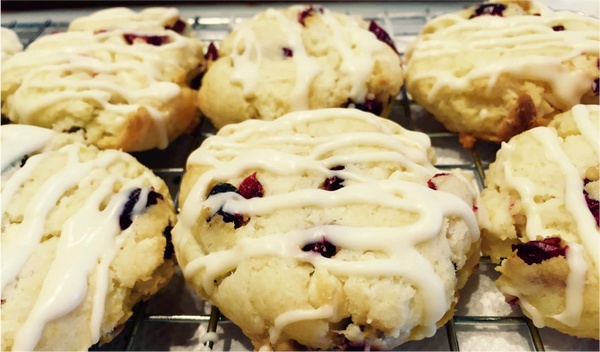 Gluten Free Cranberry White Chocolate Scones