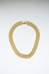 Vintage Gold Plated Flat Necklace