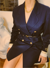 Vintage Navy Blazer Dress
