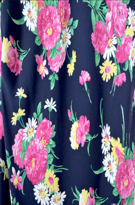 Vintage Colorful Floral Dress