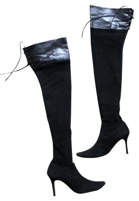 Manolo Blahnik Calf Leather Boots