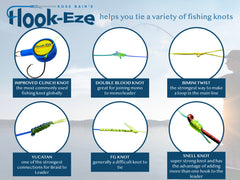 Hook-Eze Fishing Knot Tying Tool - 3 Packs Cover the Hooks on 6 Rods