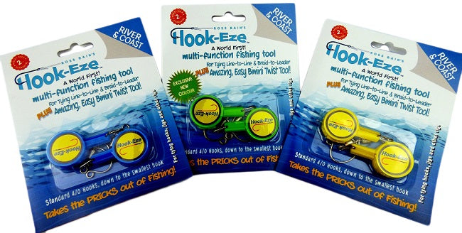 Hook-Eze 3 Twin Pack - Hook Tying & Safety Device - Cover up to 6 fishing poles