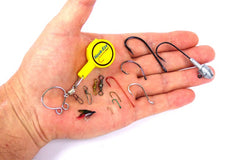 Hook-Eze Fishing Knot Tying Tool  - 5 Packs Cover the Hooks on 10 Rods