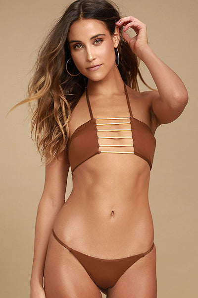 Bamboo Bandeau in Clay
