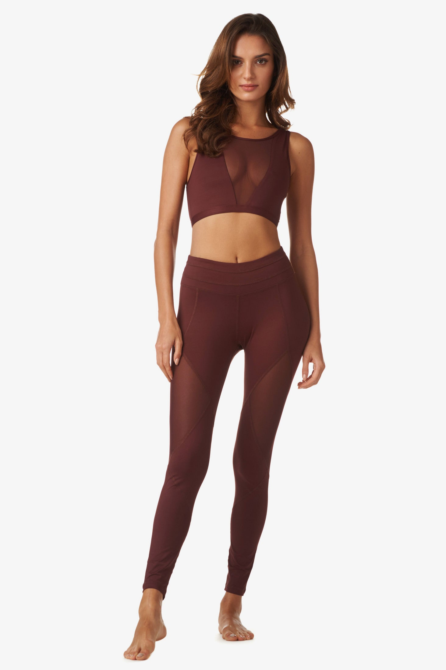 Terri Crop in Copper Red