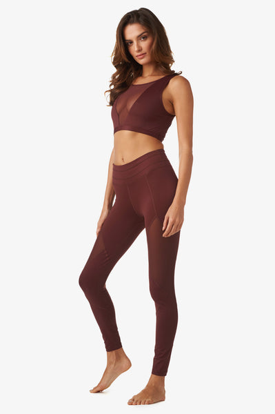 Walnut Legging in Copper Red