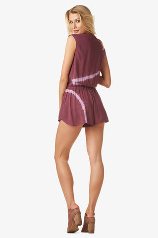 Cassandra Romper in Sea Breeze Plum