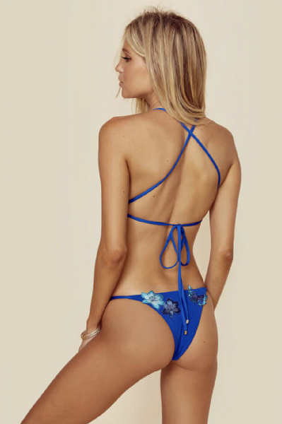 Paradise Skimpy Bottom in Sapphire