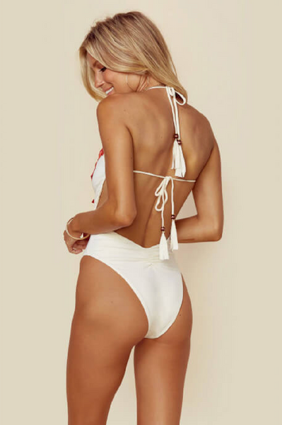 Mirage Halter One Piece in White