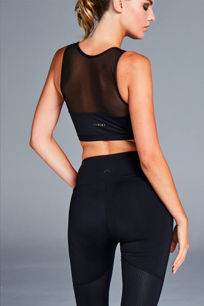 Colima Crop in Black