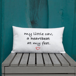 heartbeat at my feet | pillow