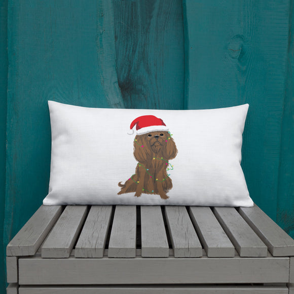 ruby christmas cav | pillow