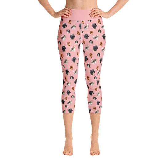 pink cav party | capri yoga pants