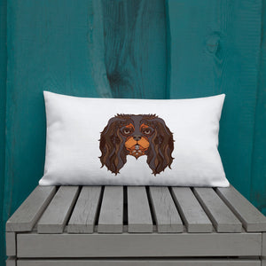 black & tan tattoo | pillow