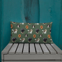 green cav party | pillow