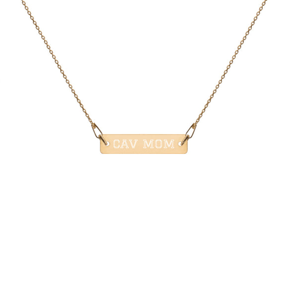 custom engraved bar chain necklace | gold, rose gold, silver