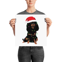 black & tan christmas cav | poster