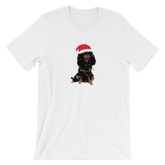 black & tan christmas cav | unisex tee