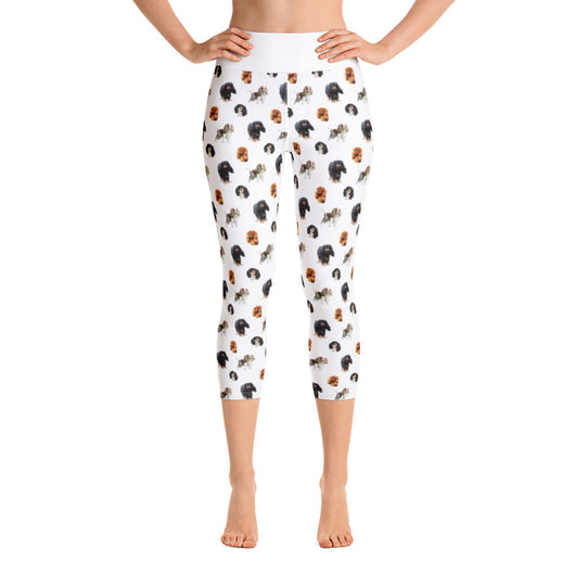 white cav party | capri yoga pants