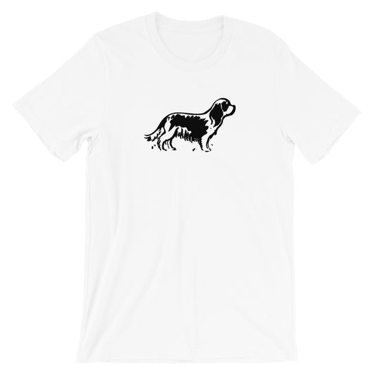 pen and ink cav | unisex cavalier king charles spaniel t-shirt