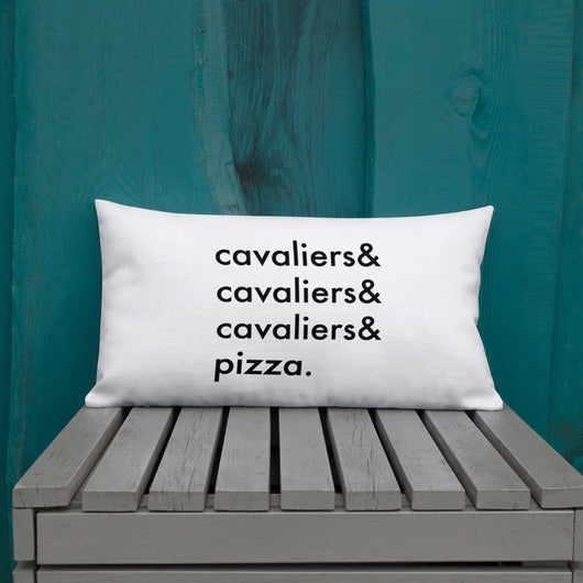 cavaliers & pizza | pillow