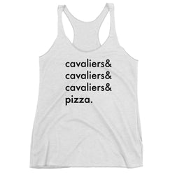 cavaliers & pizza | women's tank