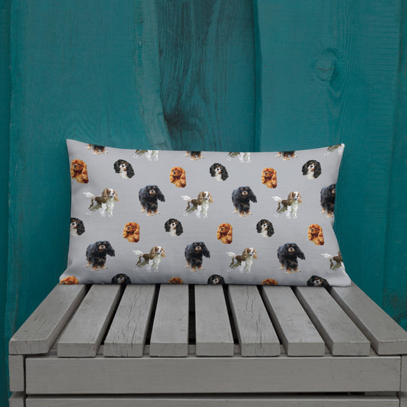 grey cav party | pillow