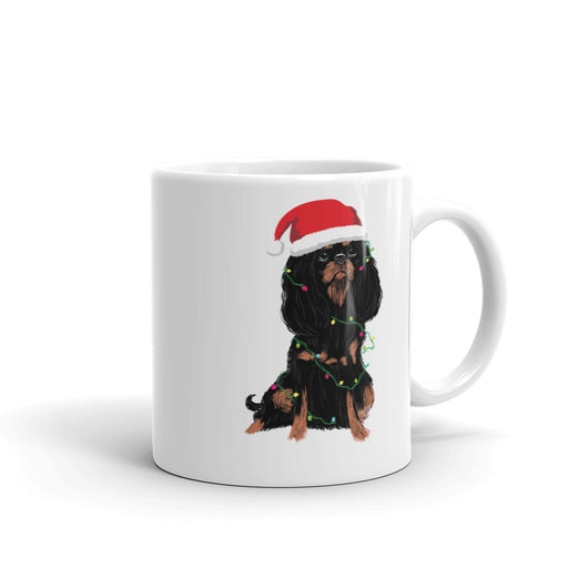 black & tan christmas cav | mug