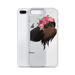 black & tan flower crown cav | iphone case