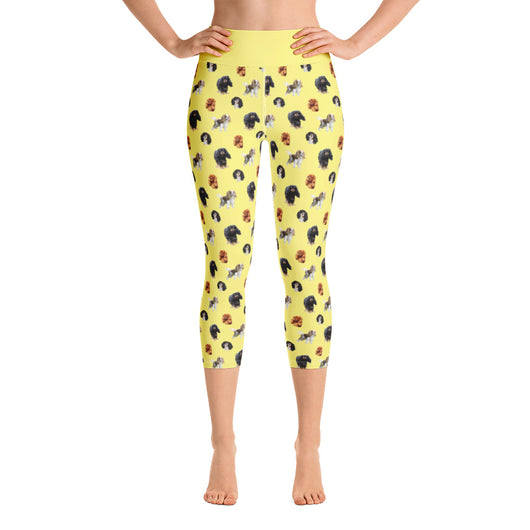 yellow cav party | capri yoga pants