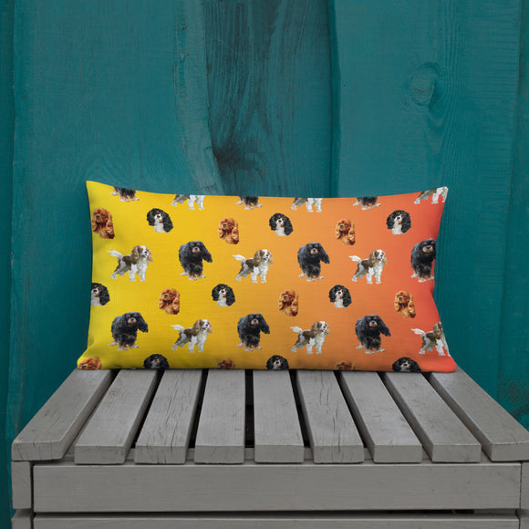 orange cav party | pillow