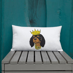 black & tan king | pillow