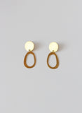Brass Mini Oval Earrings
