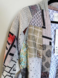 Sofus Patchwork Silk Jacket Light
