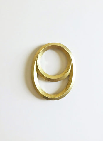 Crescent Brass Bottle Opener