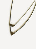 Dual Shape Pendant Necklace