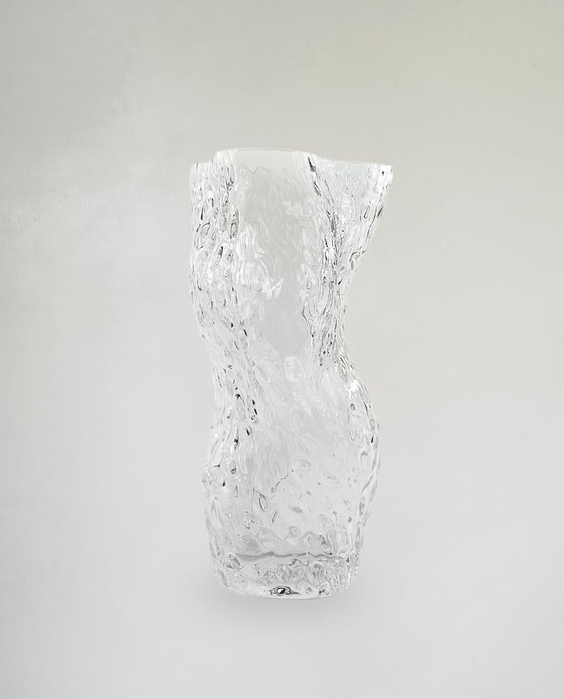 Ostrea Rock Glass Vase Clear