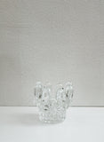 Sculptural Glass Candlestick Holder