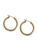 Laura Lombardi Etched Hoop Earrings