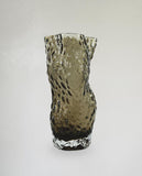 Ostrea Rock Glass Vase Smoke