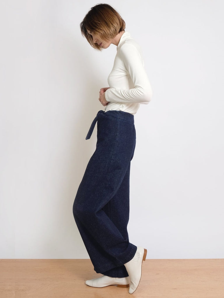 Denim Knotted Sailor Pants
