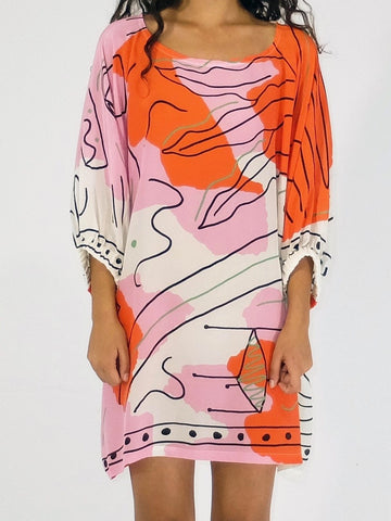 Scarf Dress Papercut Print