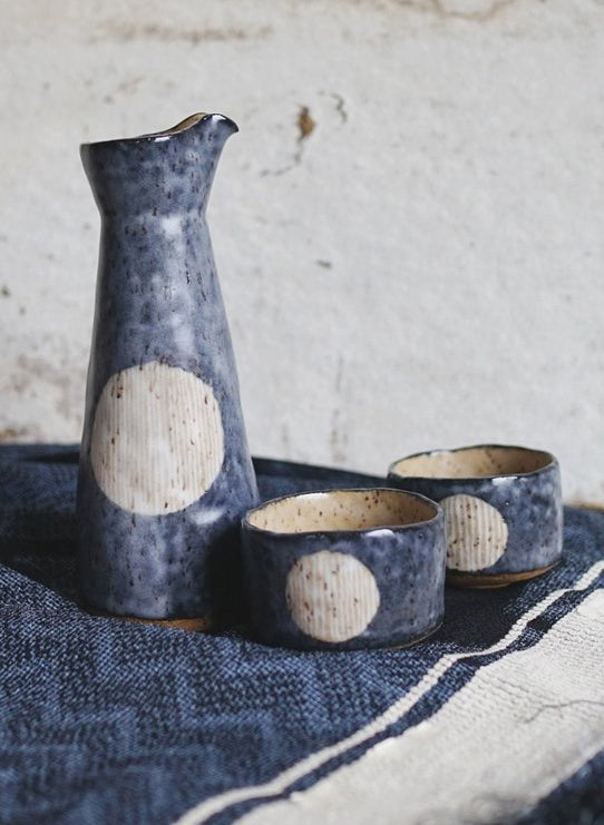Indigo Moon Sake Set