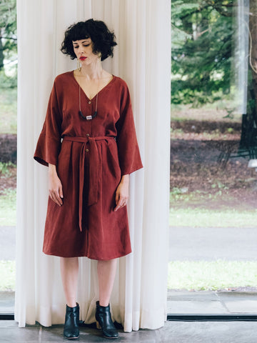 Raw Finish Cocoon Dress