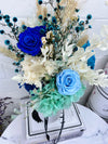 DRIED FLOWERS: BONDI BLUES  + VASE