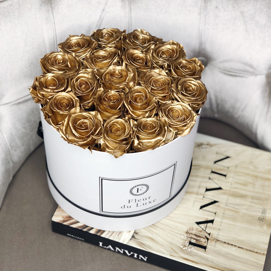 GOLD ROSES : Ultimate Luxury Large Round Box