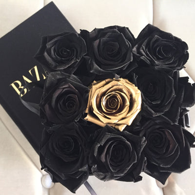 GOLD ROSES  : Special Edition Square Box